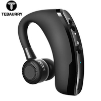 TEBAURRY Handsfree Business Bluetooth Headset With Mic Voice Control Wireless Bluetooth Earphone Headphone Sports Audifono