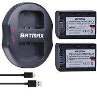 2 Pcs 1100 mAH NP FH50 NP FH50 Bateria + Carregador Dual USB para Sony A230 A330 A290 A380 A390 HDR TG3 TG1E TG5 TG7 DSC HX1 DSC HX200|Baterias digitais| |  -