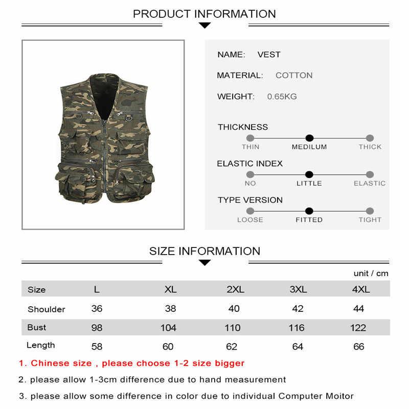 Safari Taktische Weste Military Jagd Weste Camouflage Angeln Weste Multi Tasche Reise Westen Colete Airsoft Outdoor Wandern Westen