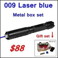 [RedStar] 009 лазерная ручка RedStar  Синяя лазерная указка  набор металлических коробок  включая 5 колпачков с звездным узором  2 аккумулятора и заряд...