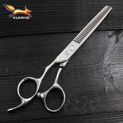 KUMIHO left handed hair thinning scissors professional hair scissors lefty thinning shears 6 inch high quality 440C hair cutter