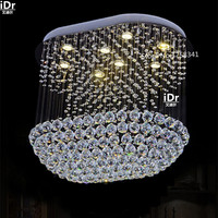 New Modern Design Large Chandelier Crystal Ceiling Fixtures L80 W40 H100cm Luxury Foyer Chandeliers