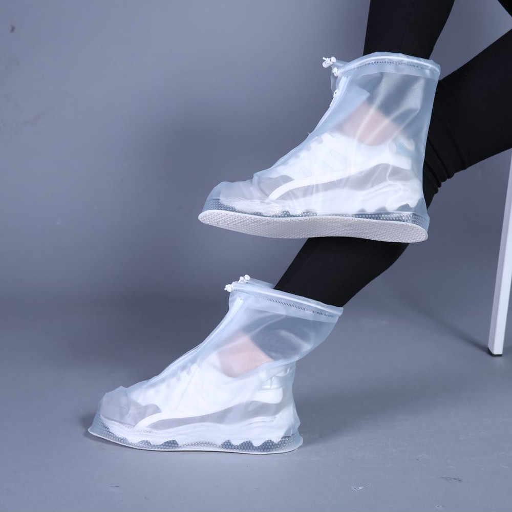 2019 Mới Ngoài Trời Giày Đi Mưa Giày Có Chống Thấm Nước chống Trơn Trượt Trên Giày Galoshes Du Lịch cho Nam Nữ Trẻ Em
