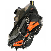 Outdoor ice claw snow climbing equipment  grab manganese steel 8-tooth Anti-Slip shoes rock snowshoes harness crampons