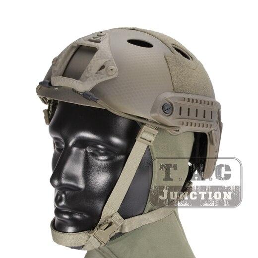 Здесь продается  Emerson Tactical Airsoft Fast Bump PJ Helmet Advanced Adjustment Combat Lightweight Modular OPS Helmet w/ NVG Shroud + Side Rail  Спорт и развлечения