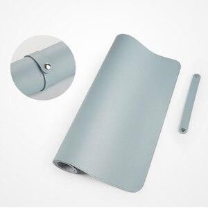 Image 2 - 100X50CM דו צדדי לשימוש משטח עכבר נייד גדול משחקי שטיחי עכבר עמיד למים עור מפוצל שולחן גרנד מחצלת גיימר עבור Dota LOL