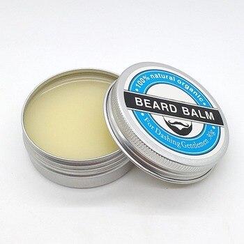 Man's Beard Balm Nourishing Moisturizing Whiskers Beard Care Styling Cream Beard Wax Oil Moustache Cleaning Cream
