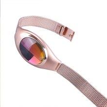 Z18 умный Браслет Смарт-браслет с крови кислородом сердечной Мониторы Модные женские спортивные часы PK mi Группа для Приложение