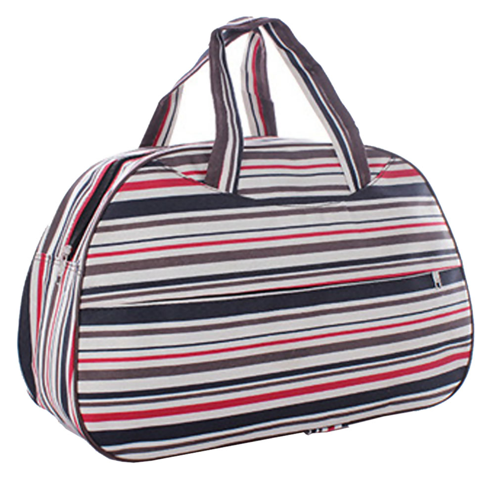 5pcs Waterproof Oxford Women bag Colorful Stripe Travel Bag Large Hand Canvas Luggage Bags