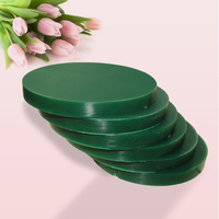 1PC Dental Laboratory CADCAM Milling Strong Carving Wax Round Wax Plate Multi Sizes Color Green
