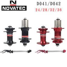 Novatec-buje de bicicleta de montaña con freno de disco, D041SB D042SB, 24 28 32 36 agujeros, 8/9/10/11 velocidades