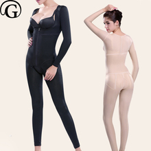 PRAYGER Women Slimming Full Body Shapers Recovery Compression Control Abdomen Bodysuits Lift Chest Thigh Slimmer Long