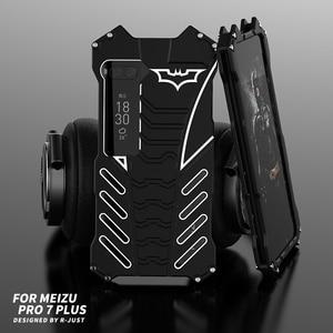 Image 1 - 360 كامل الجسم حماية بات الحال بالنسبة Meizu برو 7 Plus برو 6 الألومنيوم معدن الوفير غطاء ل Oneplus 7 برو 7T 5 5T 6 6T جراب هاتف