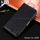 Huawei Honor 5X Case Huawei GR5 Cover K'try Luxury Pu leather Wallet Case Soft Silicone Flip Cover For Huawei GR5 Phone Case