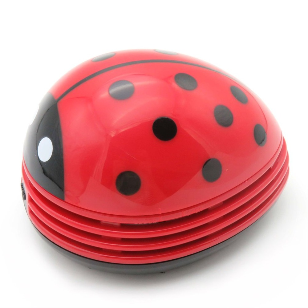 цена на Battery Operated Mini Ladybug Desktop Coffee Table Vacuum Cleaner Dust Collector for Home Office