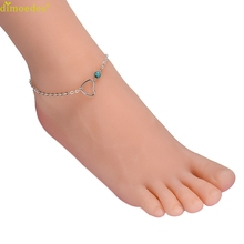 Diomedes Newest Creative 2015 Newest Heart Pattern Anklets Handmade Bead Chain Anklet Elegant Charm Casual Beach