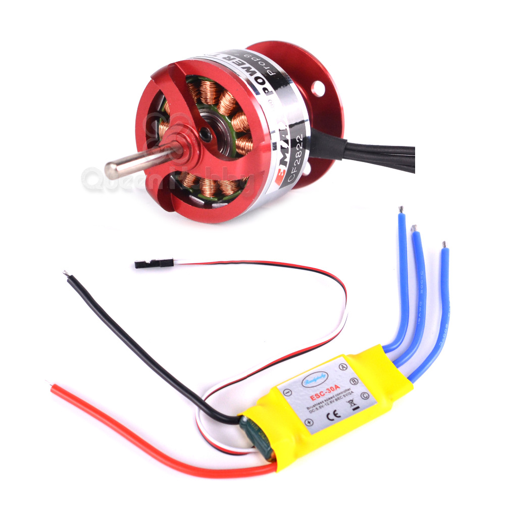 CF2822 <font><b>1200KV</b></font> Outrunner Motor+ESC 30A for RC Aircraft Helicopter Airplane image