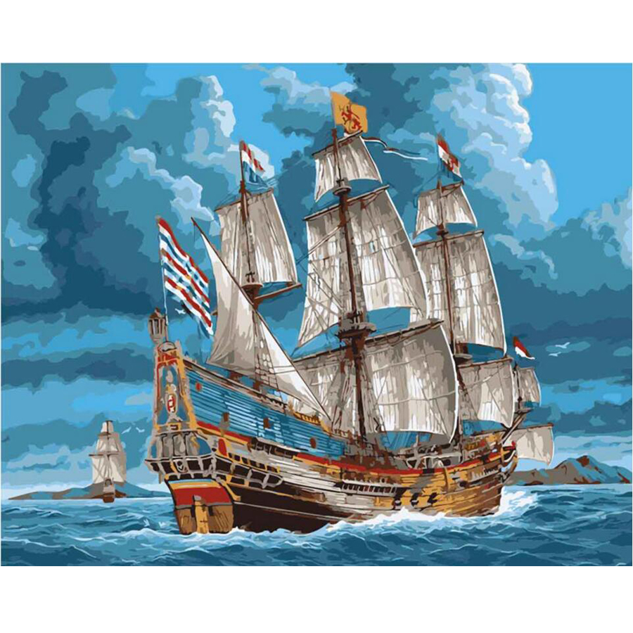 Diy Diamond Painting Cross Stitch Kits Full Diamond Embroidery Caribbean Sea ship boat Needlework Diamond Mosaic Home Decor