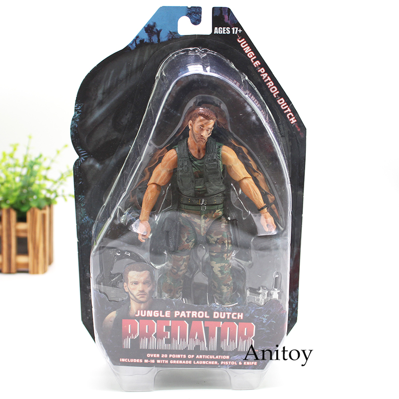 Predators Figure 25th Anniverary Jungle Patrol Dutch Predators Action Figure 18cm недорго, оригинальная цена