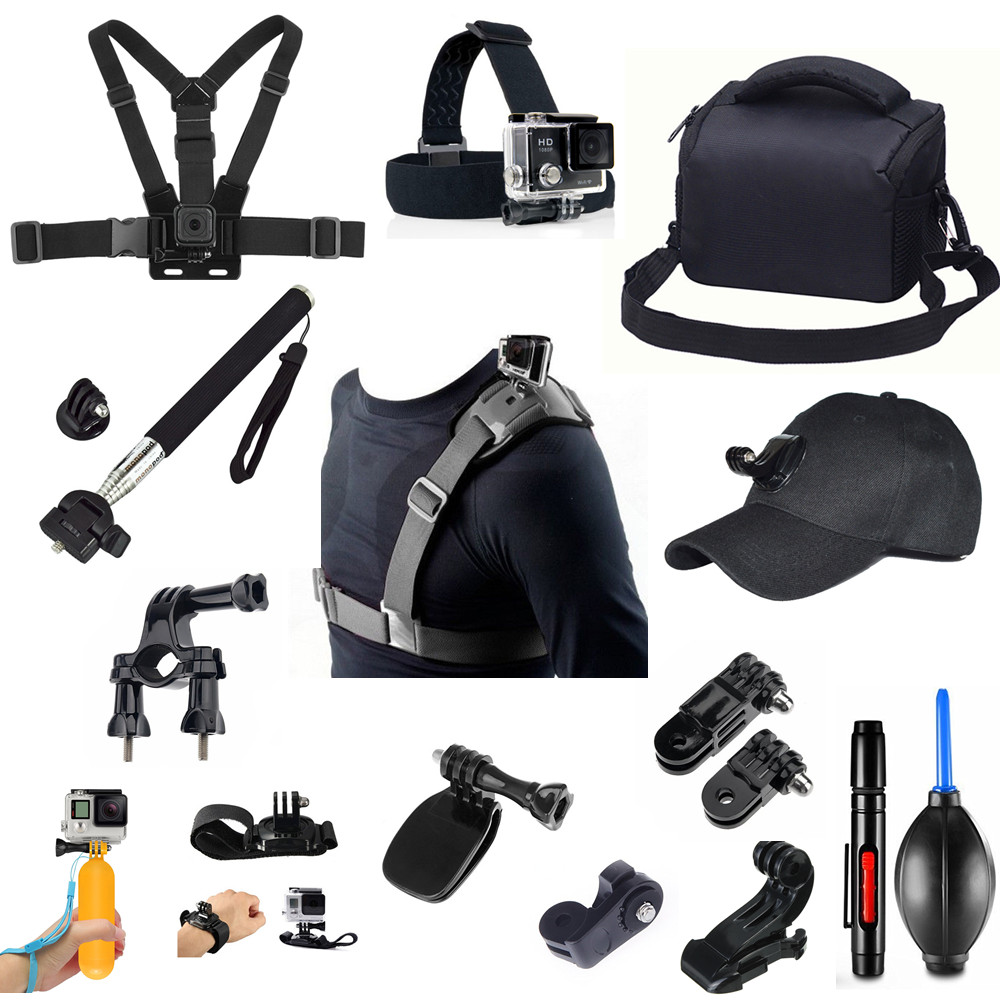 12 in 1 Sport Accessories kit for Sony X3000 X1000 AS300 RX0 II AS200 AS100 AS50