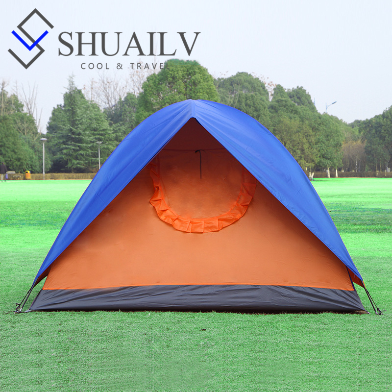 New nature hiking double layer camping tent for adult 2016 for Kids outdoor fabric
