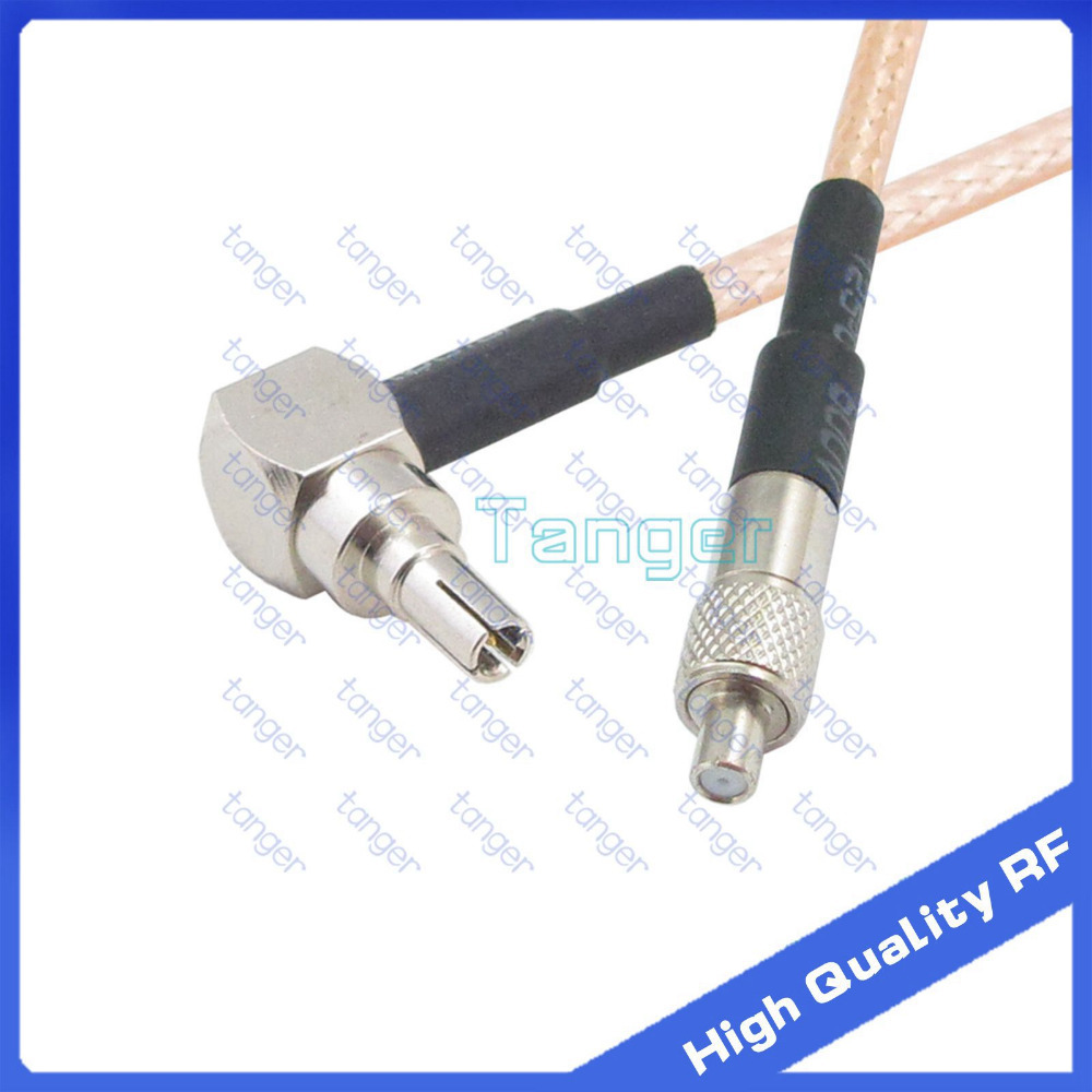 Connector Tang Crc9 Male Plug Right Angle To Ts9 Female Connector Jack With 20cm