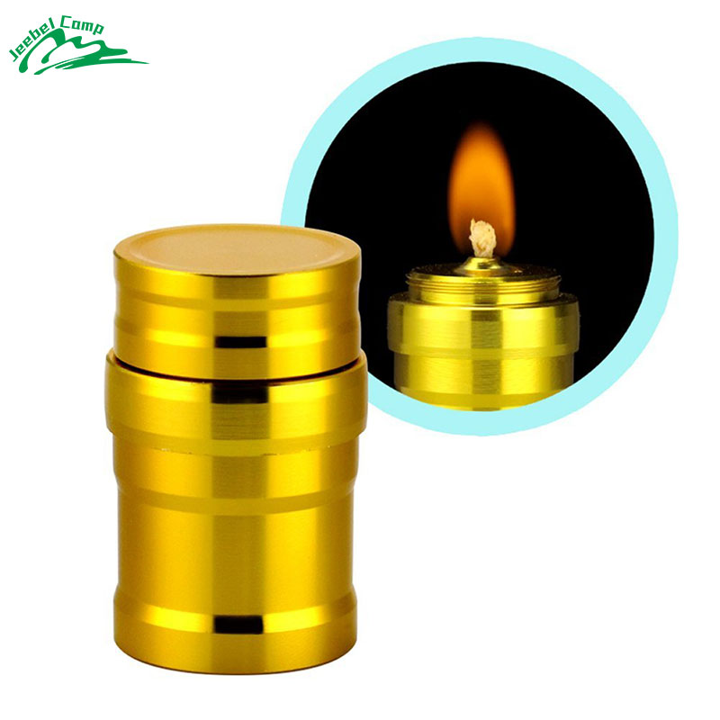 Jeebel 10ml Alcohol Burner Lamp With Wick Portable Mini Aluminum Case Lab Equipment Heating Outdoor Survival Camping Hiking
