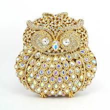 Bolsos de mano floreados con diamantes de imitación para mujer, bolsos de noche Vintage para mujer, bolsos de novia de cristal para boda, bolso de hombro de color AB Q08