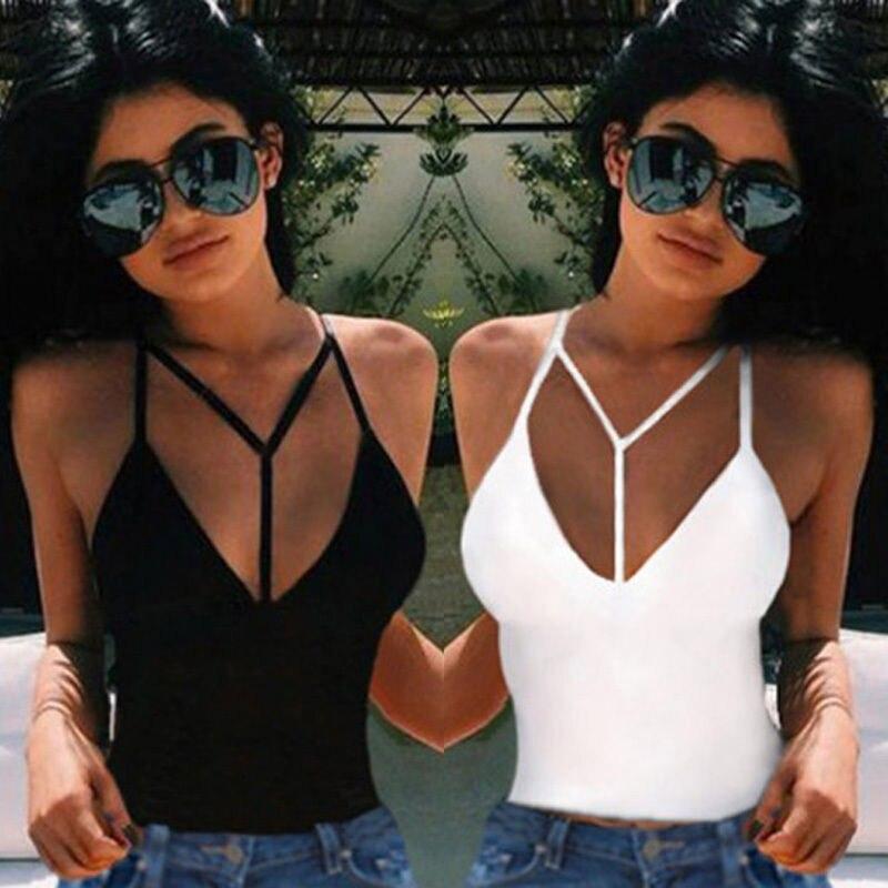 Women Sexy Crop Tops Fashion  Summer Y Strap Bustier Slim Fitting Bra Tank Tops Corset Clubwear Bralette Tank Tops