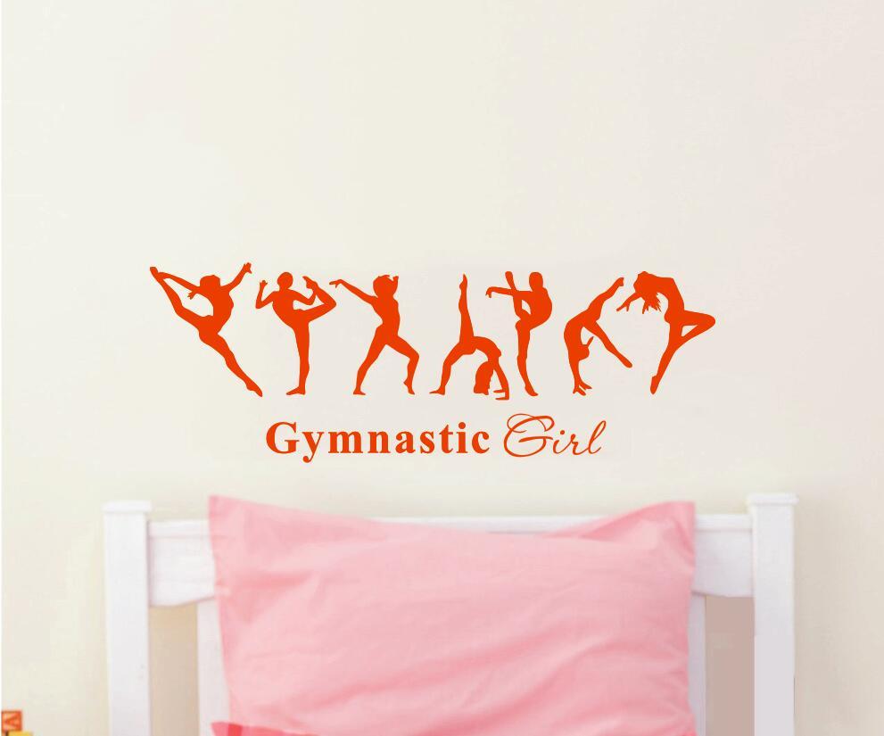 Gratis frakt vacker tjej gymnastik ballerina dac flagga väggdekor - Heminredning - Foto 4