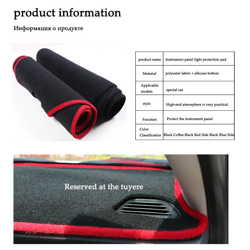 Xiaobaishu For Skoda Octavia A7 2015 2016 2017 2018 car dashboard avoid light pad instrument platform Desk Cover Mats Carpets in Interior Mouldings from Automobiles Motorcycles