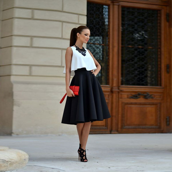 Womens black casual skirts – Fashionable skirts 2017 photo blog