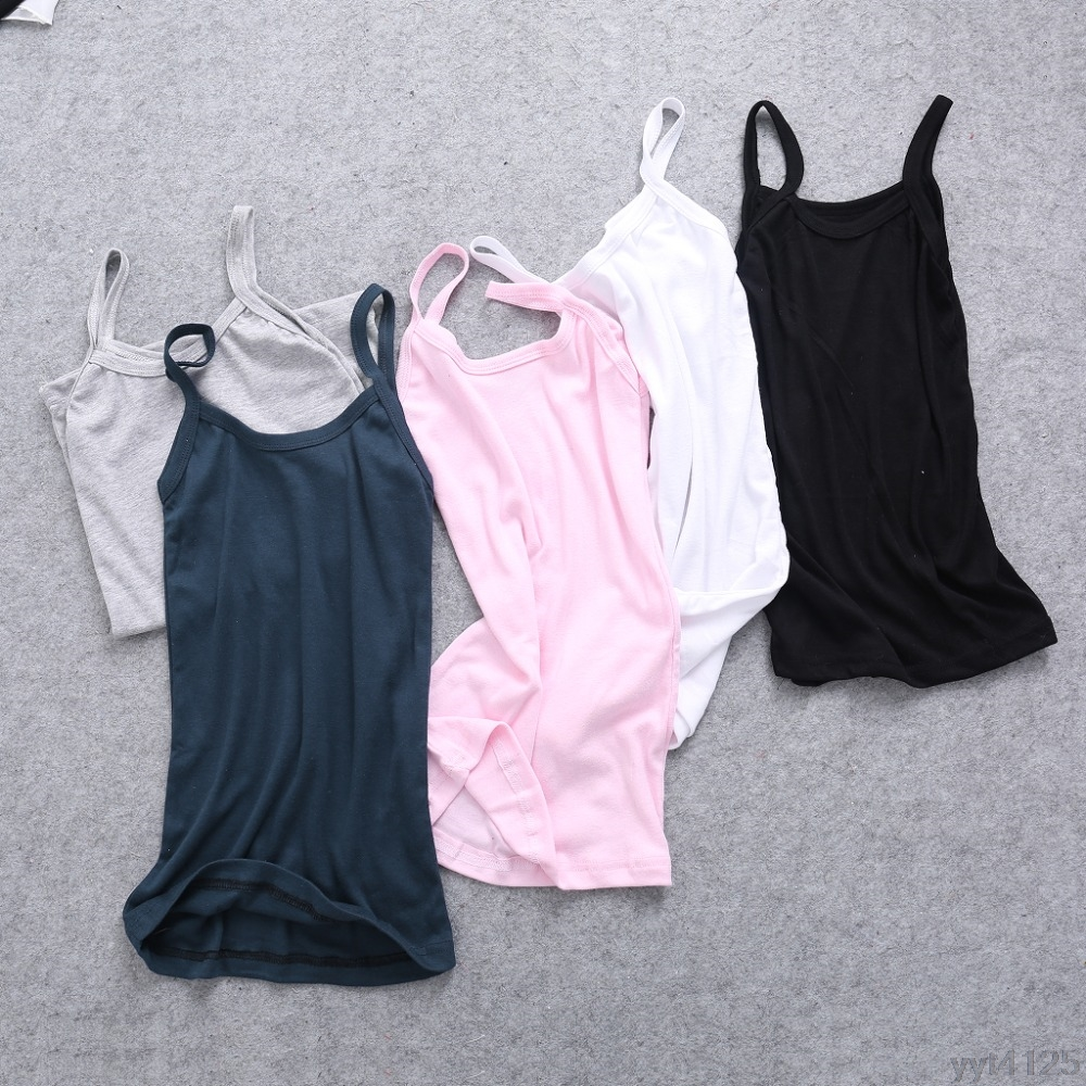 2018 New Summer Sexy Women Plain Camisole U-neck Vest Stretchable Backless Slim Sling   Tank     Tops   T-Shirt Tee