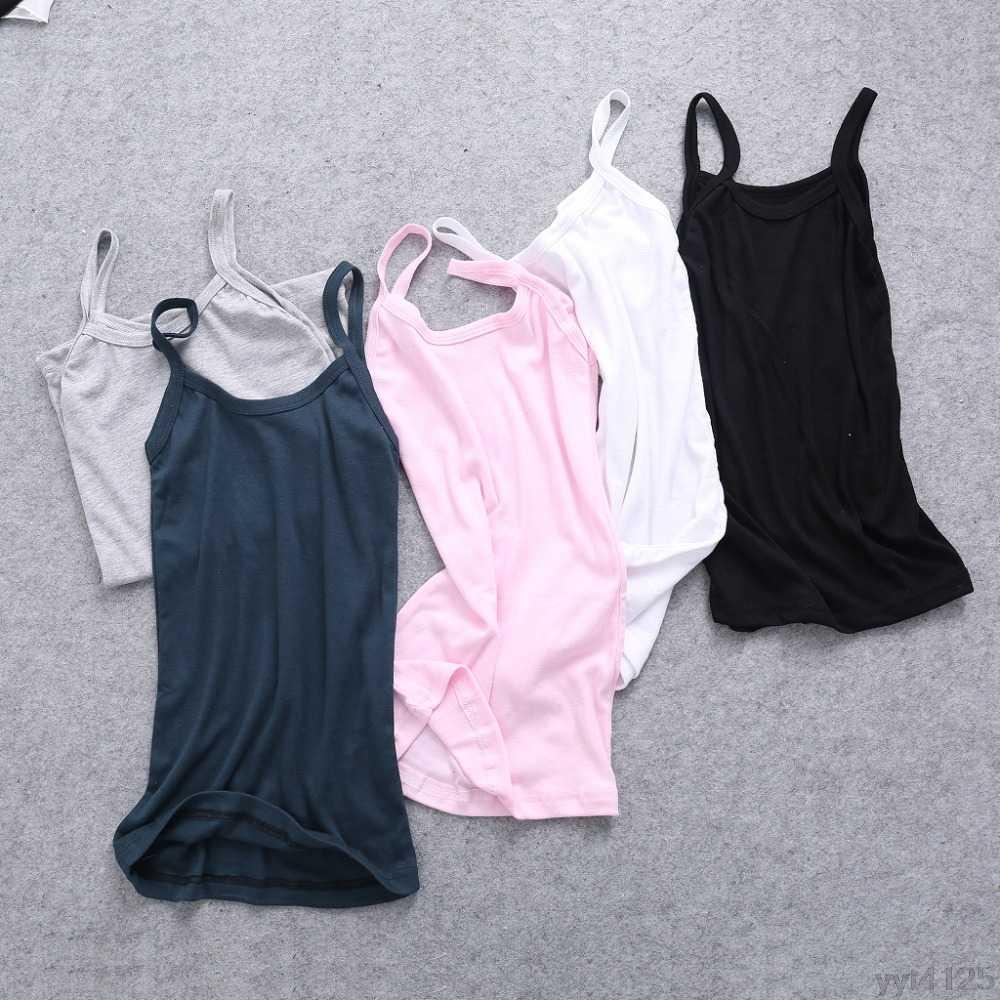 2018新しい夏のセクシーな女性平野キャミソールuネックベスト伸縮背中の開いたスリムスリングタンクトップtシャツtシャツ