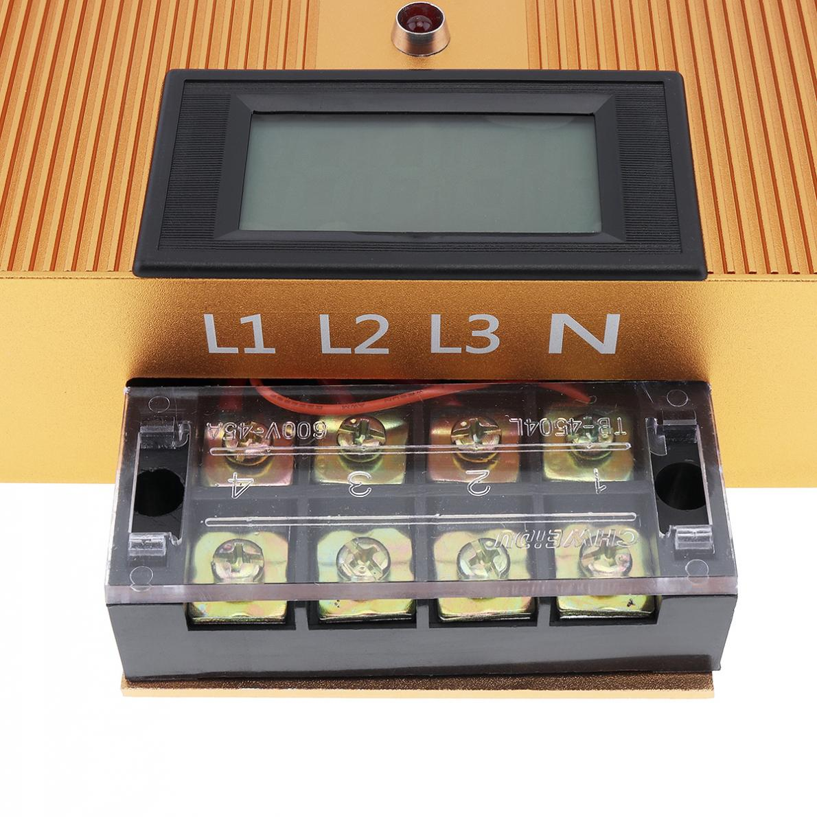 Boîte économiseuse d'énergie intelligente triphasée à ca 90-450V 80KW avec l'affichage de LED et le fusible indépendant pour l'industrie électrique 380V