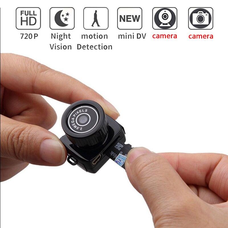 Mini cámara inalámbrica de 720 p Video Audio Recorder Webcam Cámara pequeño DV DVR secreto de seguridad. de niñera del deporte del coche de la Micro Cam con micrófono