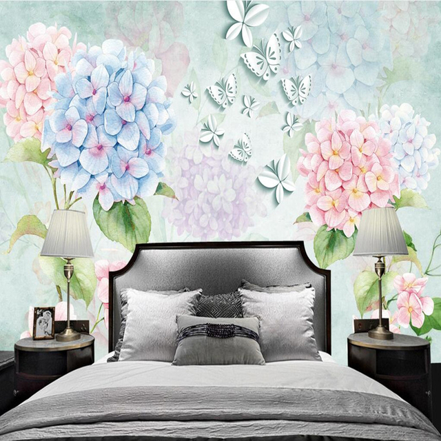 Custom Photo Wall Murals 3D Stereoscopic Wallpaper for Living Room