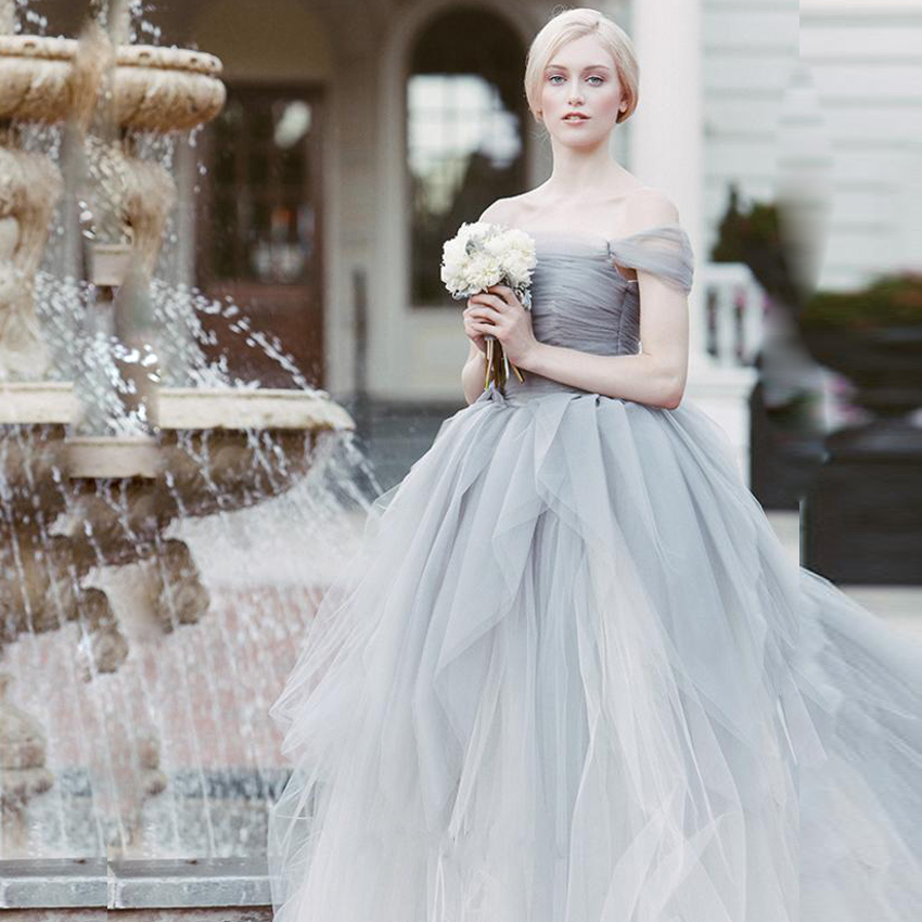 Gray Bridal Gown