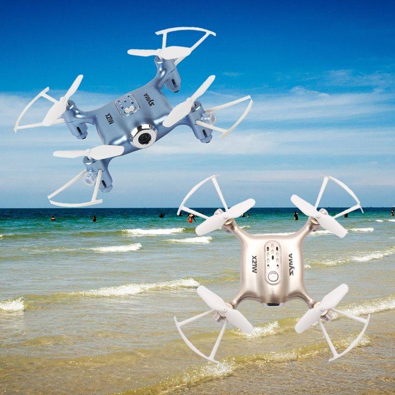 Syma X21W télécommande retardateur Drone Mini caméra HD sans fil 4 canaux 6 axes Gyro quadrirotor or