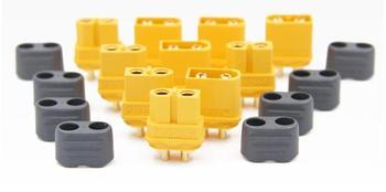 10 x Amass XT60+ Plug Connector With Sheath Housing 5 Male 5 Female (5 Pair )