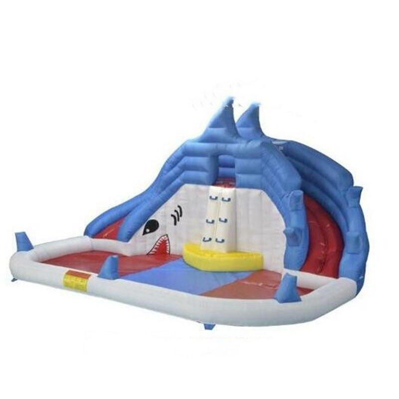 Gonflable enfants toboggans shark curseur toboggan gonflable avec bassin séparé