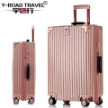 TSA&Metal Drawbars Hardshell PC suitcase luggage/travel house luggage/traveling luggage with wheel/Trolley suitcases on wheels