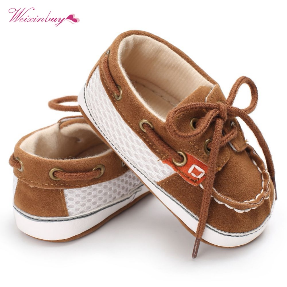 WEIXINBUY Baby Boy Toddler First Walkers Cotton Canvas Shoes Infant Sneaker Stitching Straps Soft Bottom Non-slip Casual Shoes