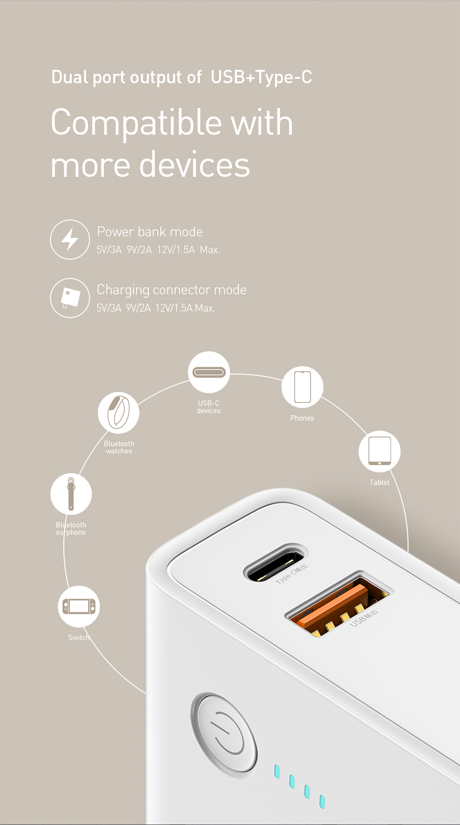 Baseus Energy Reactor Two in One Charger Power Bank 10000mAh 18W 9