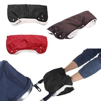 Los niños de invierno gruesa caliente cochecito guantes cochecito mano manguito impermeable accesorio para cochecito manopla bebé Buggy embrague carro guantes de la mano