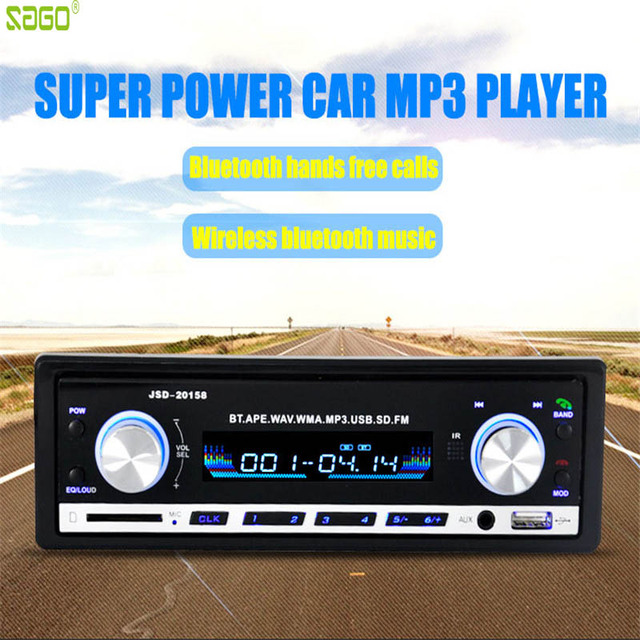 2017 Registered Car Radio 12V Bluetooth V2.0 Car Audio Stereo In-dash 1 Din FM Aux Input Receiver SD USB MP3 MMC WMA Car Player