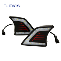 Car Styling LED DRL Daytime Running Light Super Bright Fog Lamp For Toyota Hilux Vigo 2012