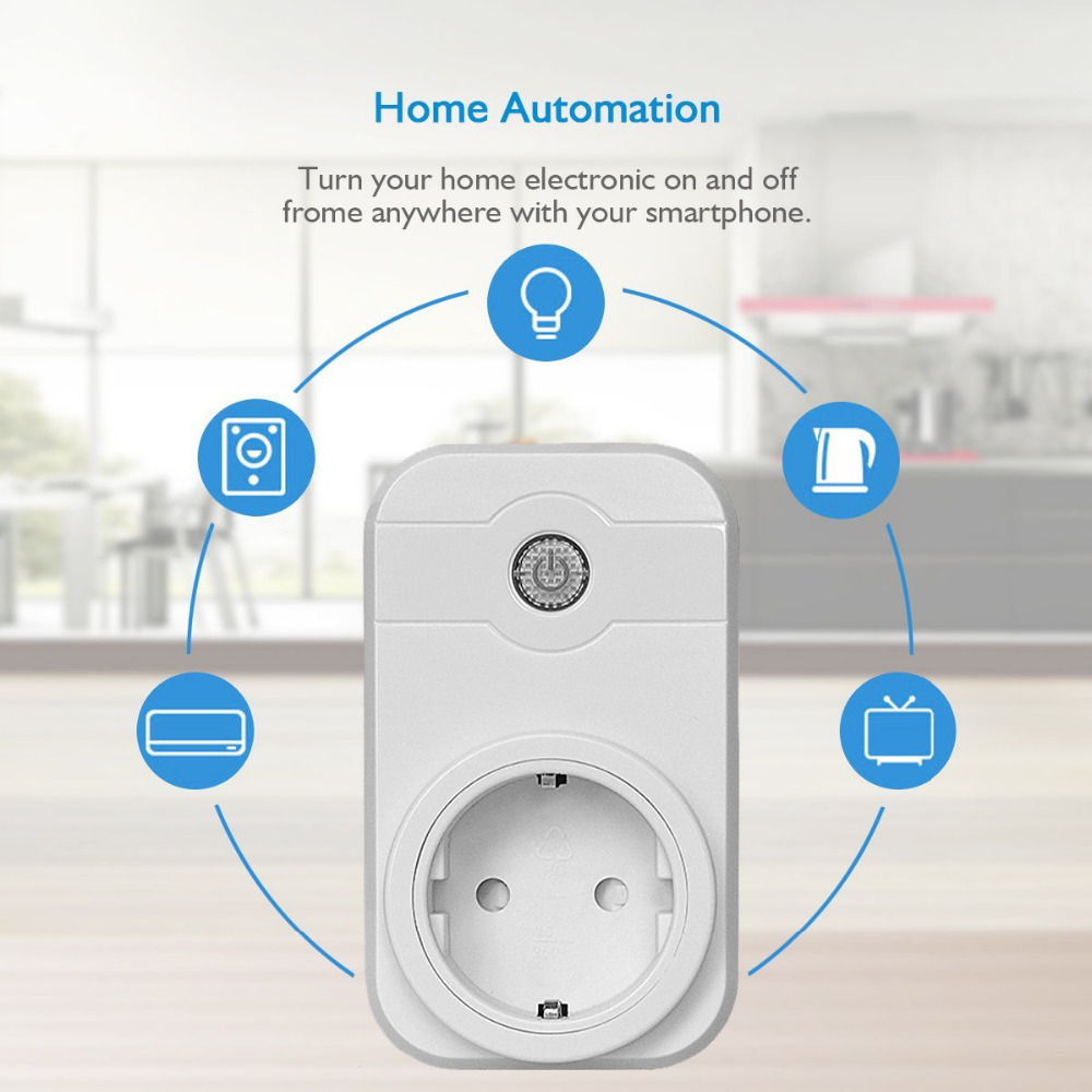 Hot selling Smart Wifi Wireless Power Socket Switch Remote Controls Support Amazon Alexa for voice control by IOS Android phone