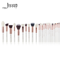 Jessup White Rose Gold Professional Makeup Brushes Set Make Up Brush Tools Kit Foundation Powder Blushes