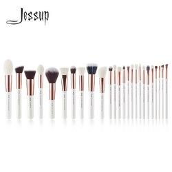 Джессап жемчужно-белый/розовое золото Профессиональные кисти для макияжа Кисти для макияжа Brush инструменты комплект Фонд комплект порошок ...